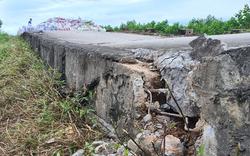 Hà Nội: Sụt lún nghiêm trọng ở đê sông Đáy, người dân nơm nớp sống trong nỗi lo vỡ đê