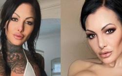 Nữ người mẫu hình xăm xinh đẹp che phủ toàn bộ cơ thể bằng lớp trang điểm cực dày