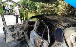 Nóng: Bộ xương người cháy khô trên xe taxi ở An Giang