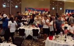 Clip: ĐT Anh và các nàng WAGs ăn mừng như thể vô địch EURO