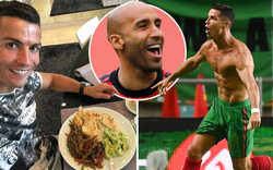 Nhìn thực đơn của Ronaldo, các đồng đội ở M.U... nghẹn cả họng