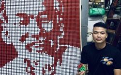 Chàng shipper Hà Nội có tài ghép hàng trăm khối rubik tạo thành tranh siêu đẹp