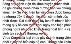 Hà Nội: Xử lý một thanh niên đăng tin sai sự thật về dịch Corona
