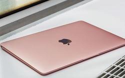 Cận cảnh MacBook màu vàng hồng thời thượng