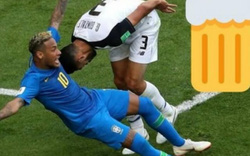 """""""Kèo dị"""" trận Brazil vs Serbia: Neymar ngã, CĐV được miễn phí bia"""