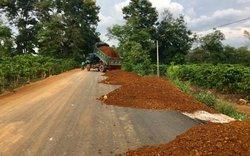 Gia Lai: Khai thác đất trái phép để thi công đường liên huyện