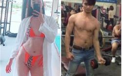 """Lệ Rơi và loạt sao Việt nghiện gym """"gây sốt"""" với hình ảnh khoe cơ bắp"""