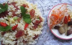 Đĩa cơm chiên ăn sáng ở miền Tây Nam bộ!