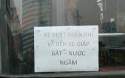 """Clip: Người dân ngỡ ngàng trước xe buýt """"0 đồng"""" ở BX Mỹ Đình"""