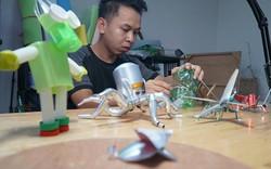 """Ảnh-clip: Kho đồ chơi mô hình """"khủng"""" từ rác thải của chàng trai 9X"""