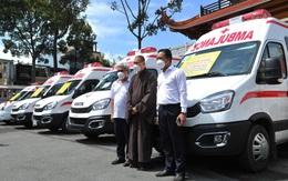 Giáo hội Phật giáo Việt Nam TP.HCM tặng 8 xe cứu thương trị giá gần 10 tỷ đồng cho các bệnh viện tuyến đầu