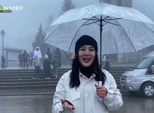Clip: Cuối tuần Sa Pa mưa lạnh nhưng vẫn thu hút và hấp dẫn khách du lịch