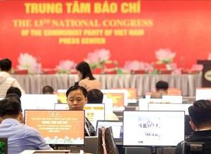 Gần 500 phóng viên, biên tập viên các cơ quan báo chí trực tiếp đưa tin Đại hội Đảng XIII