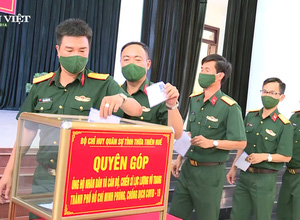 Các chiến sĩ bộ đội Thừa Thiên Huế chung tay hỗ trợ nhân dân TP.Hồ Chí Minh phòng, chống dịch Covid-19