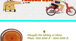 Infographic: 8 vi phạm giao thông thường gặp, lái xe máy phải biết