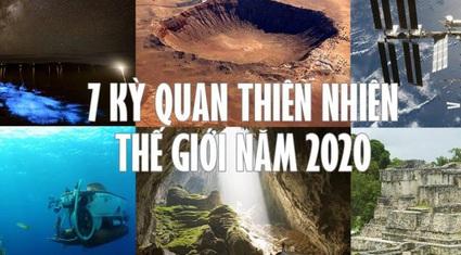 Hang Sơn Đoòng lọt Top 7 kỳ quan thiên nhiên của năm 2020