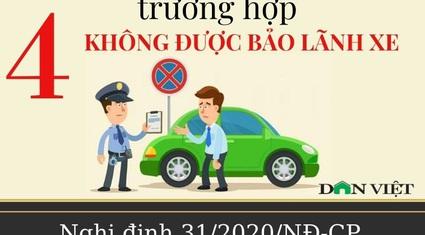 4 trường hợp nào không được bảo lãnh xe vi phạm giao thông?