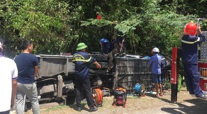 Khởi tố vụ lật xe khách, 15 người tử vong ở Quảng Bình