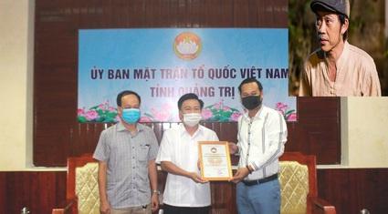 Quảng Trị nhận 1 tỷ đồng từ đại diện nghệ sĩ Hoài Linh
