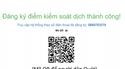 Hướng dẫn khai báo y tế online bằng mã QR CODE