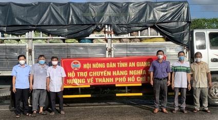 Covid-19 An Giang: Hội Nông dân tỉnh gấp rút chở 10 tấn nông sản sạch hướng về Hội Nông dân TP Hồ Chí Minh.