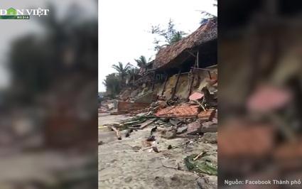 Clip: Bãi biển An Bàng, Hội An tan hoang sau bão số 13