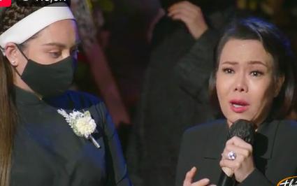 Tang lễ ca sĩ Phi Nhung: Việt Hương, Mạnh Quỳnh khóc nghẹn xin lỗi Wendy gây xúc động