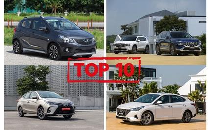 Top 10 xe bán chạy nhất 9 tháng năm 2021, nhiều mẫu xe rớt hạng