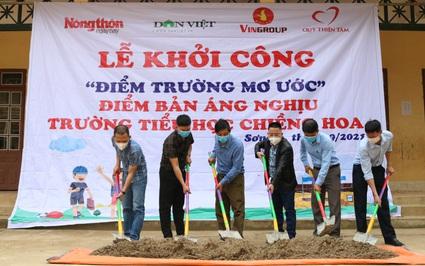 Quỹ Thiện Tâm và Báo NTNN/Dân Việt khởi công điểm trường mơ ước ở vùng quê nghèo Sơn La