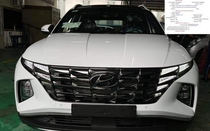 Lộ ảnh và thông số ban đầu Hyundai Tucson 2022 đang đăng kiểm tại Việt Nam