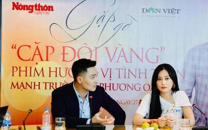 """Dân Việt giao lưu trực tuyến với """"cặp đôi vàng"""" Phương Oanh - Mạnh Trường"""
