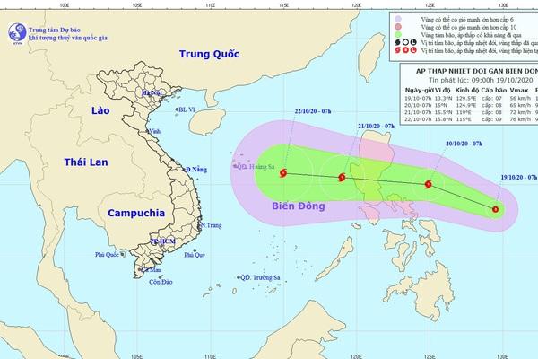Mưa lũ miền Trung còn chưa dứt, đã xuất hiện áp thấp nhiệt đới gần biển Đông