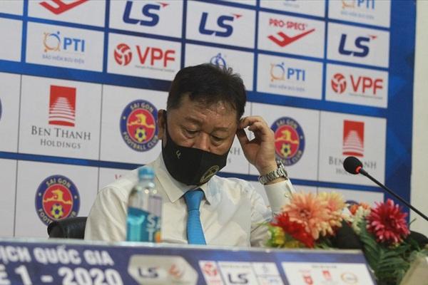 """HLV Chung Hae-seong: """"Tôi chưa từng nói TP.HCM đặt mục tiêu vô địch V.League"""""""