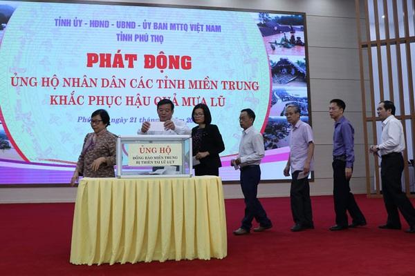 """Phú Thọ: Phát động phong trào """"Lá lành đùm lá rách"""" ủng hộ đồng bào miền Trung"""