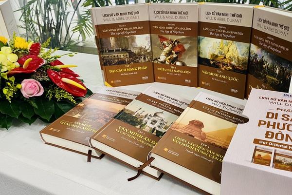 """Ra mắt """"Lịch sử văn minh thế giới"""" - bộ sách dịch đồ sộ có giá trị"""