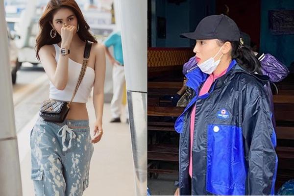 Hoa hậu Kỳ Duyên, Khánh Vân vào vùng lũ cứu trợ, Ngọc Trinh diện đồ tung tẩy sân bay