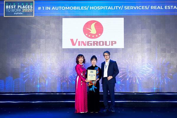Vingroup là nơi làm việc tốt nhất Việt Nam trong lĩnh vực ô tô, bất động sản, nghỉ dưỡng, giáo dục
