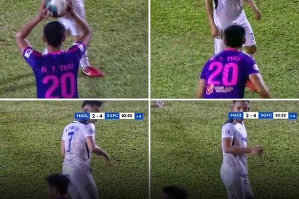 HLV Lê Thụy Hải phát ngôn sốc về cầu thủ ném bóng vào mặt Hồng Duy