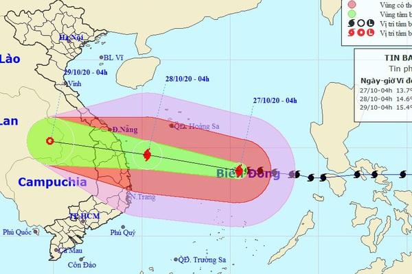 Khẩn cấp: Bão số 9 vẫn mạnh thêm, lao nhanh về phía Đà Nẵng - Phú Yên, giật tới cấp 17