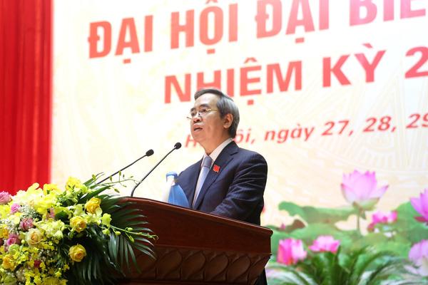 Ủy viên Bộ Chính trị Nguyễn Văn Bình phát biểu chỉ đạo Đại hội đại biểu Đảng bộ Khối các Cơ quan T.Ư
