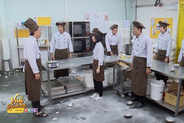 """Vua bánh mì tập 31: Quốc Huy, Bạch Công Khanh suýt """"choảng nhau"""" vì Trương Mỹ Nhân"""