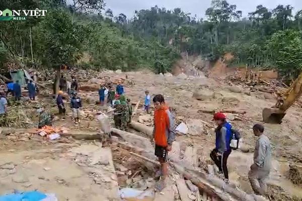 Nóng: Cứu được 3 người từ vụ sạt lở ở xã Trà Leng