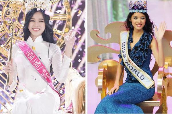 """Hoa hậu Đỗ Thị Hà bất ngờ được so sánh với """"Hoa hậu đẹp nhất Trung Quốc"""", fan phấn khích"""