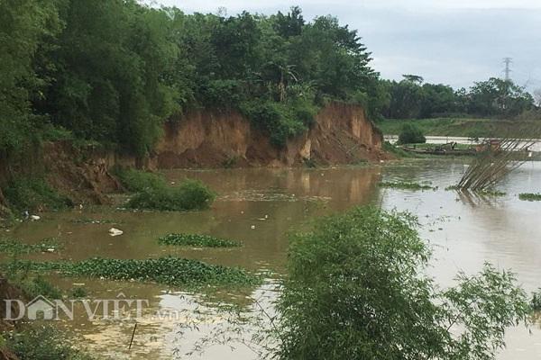 Sạt lở bờ sông Công, dân mất đất
