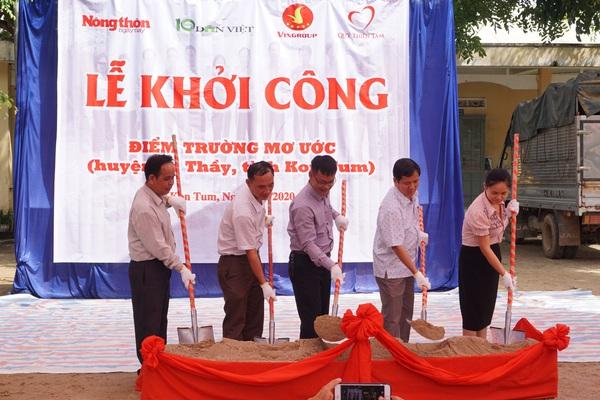 Báo Dân Việt khởi công phòng học tại điểm trường ở Kon Tum