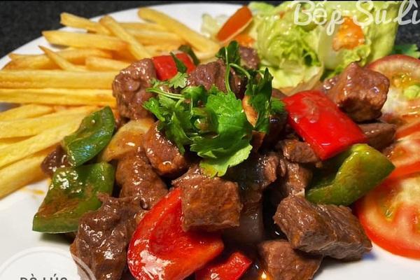 Cách nấu món ăn ngon đơn giản: bò lúc lắc