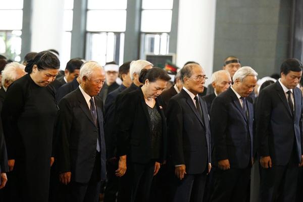 Lãnh đạo Đảng, Nhà nước đến viếng tại lễ tang đồng chí Vũ Mão