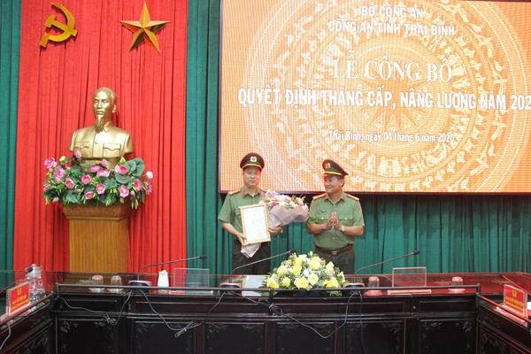 Giám đốc Công an Thái Bình Nguyễn Thanh Trường được thăng hàm đại tá
