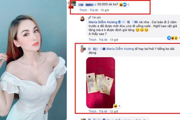 """Hoa hậu Diễm Hương mặc gợi cảm hút mắt, bất ngờ bị """"gạ gẫm đi khách"""" giá """"khủng""""?"""