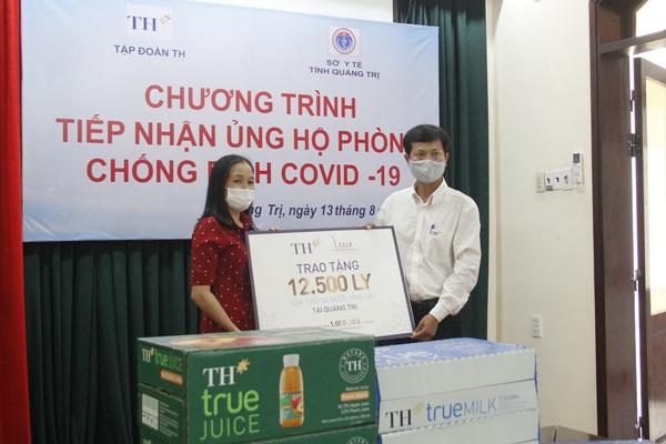 Tập đoàn TH trao tặng 12.500 sản phẩm sữa tươi hỗ trợ tỉnh Quảng Trị phòng, chống dịch Covid-19
